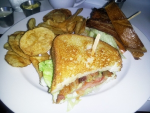 DWBLT - smoked bacon, lettuce, tomato  avocado and chipotle mayo