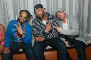 Lil Jon parties in a VIP booth with friends. Photo credit: Hyde Bellagio