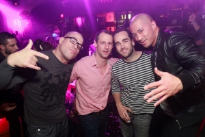 Former mixed martial artist and UFC Heavyweight Champion Tito Ortiz and friends. Photo credit: Hyde Bellagio
