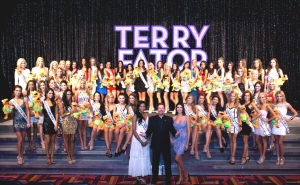 Current Miss USA Nana Meriwether, Terry Fator, Taylor Makakoa and the 51 Miss USA Contestants by Cashman Photo
